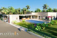 Plantation Estate Moderne Thai Bali Luxus-Pool-Villen zum Verkauf
