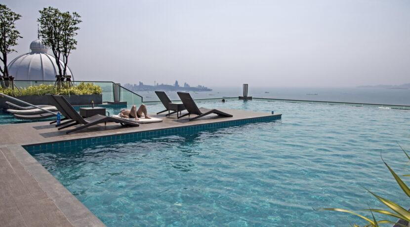 Naklua Wohnung mit Swimmingpool auf dem Dach zu vermieten